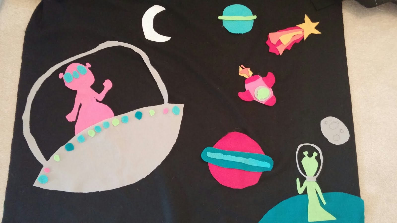 Wading through soup outer space card table fort panel 3 for Outer space fabric panel