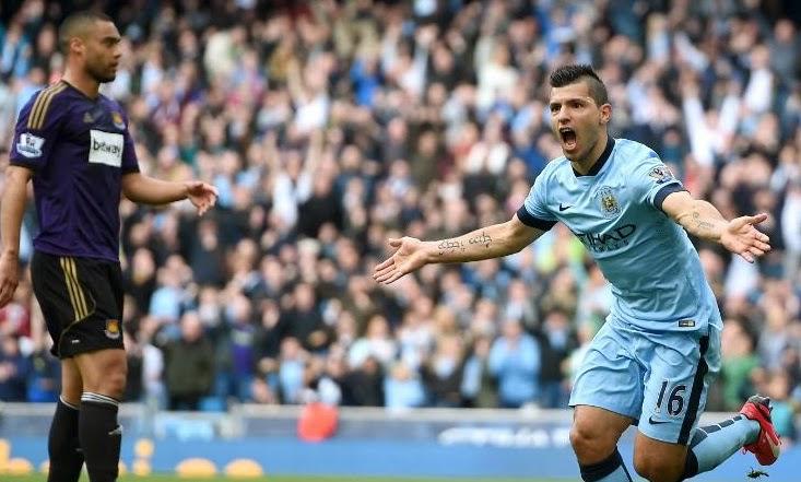 Manchester City 2-0 West Ham 19 April 2015