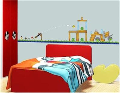 desain kamar tidur angry brid