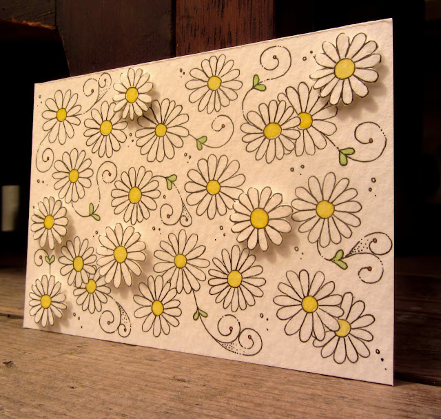 Paper craft daisies