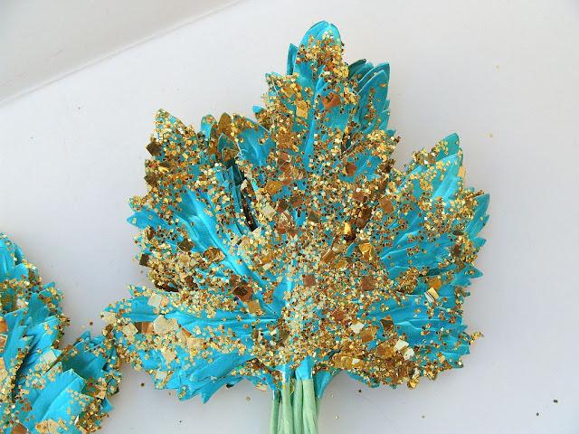 Glitter Leaves DIY