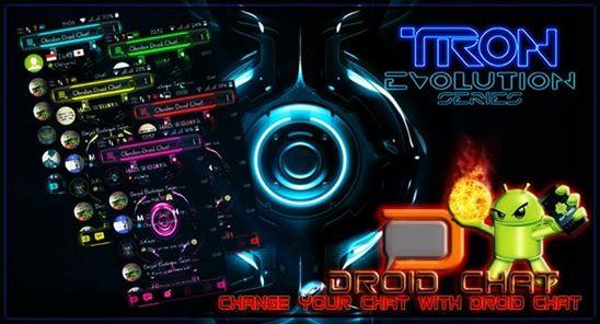 BBM Mod Droidchat Tron Versi 2.9.0.44 apk + Full Colour + New