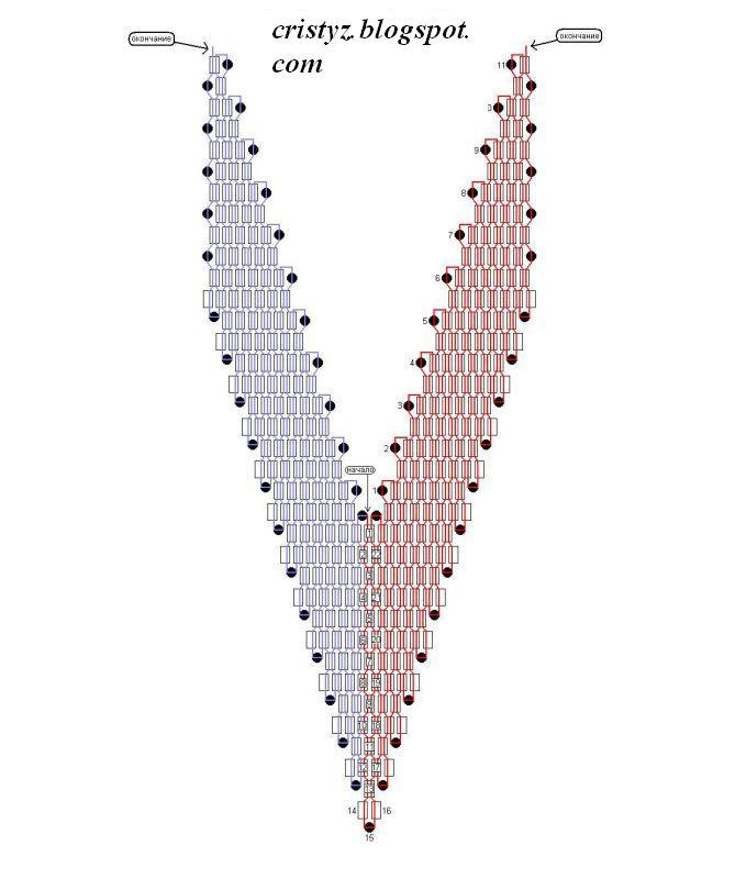 Плетение бантиков из бисера схемы