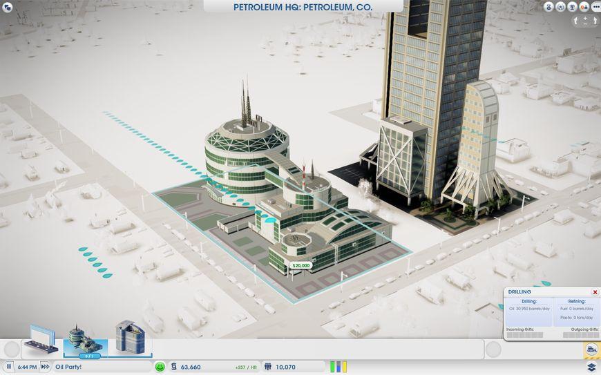 Нефтяное управление в игре SimCity
