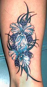 dragon tattoo art also flower