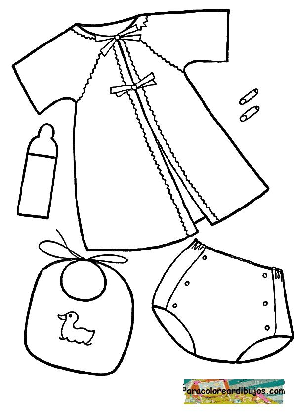 ropita de bebe para colorear | Para colorear dibujos y dibujos