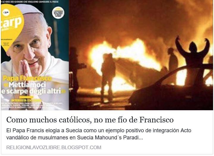 Falso papa Bergoglio promotor de la invasión musulmana.