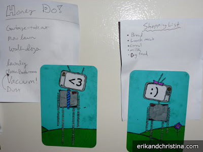 robot love magnets