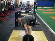 Snapshot of the deadlift with lumbar flexion:
