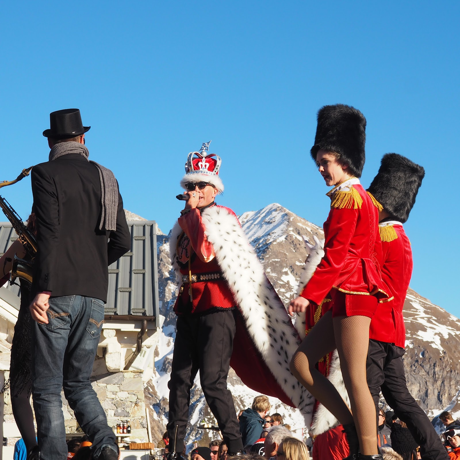 Kelly Starlight at La Folie Douce, Val d'Isere, France