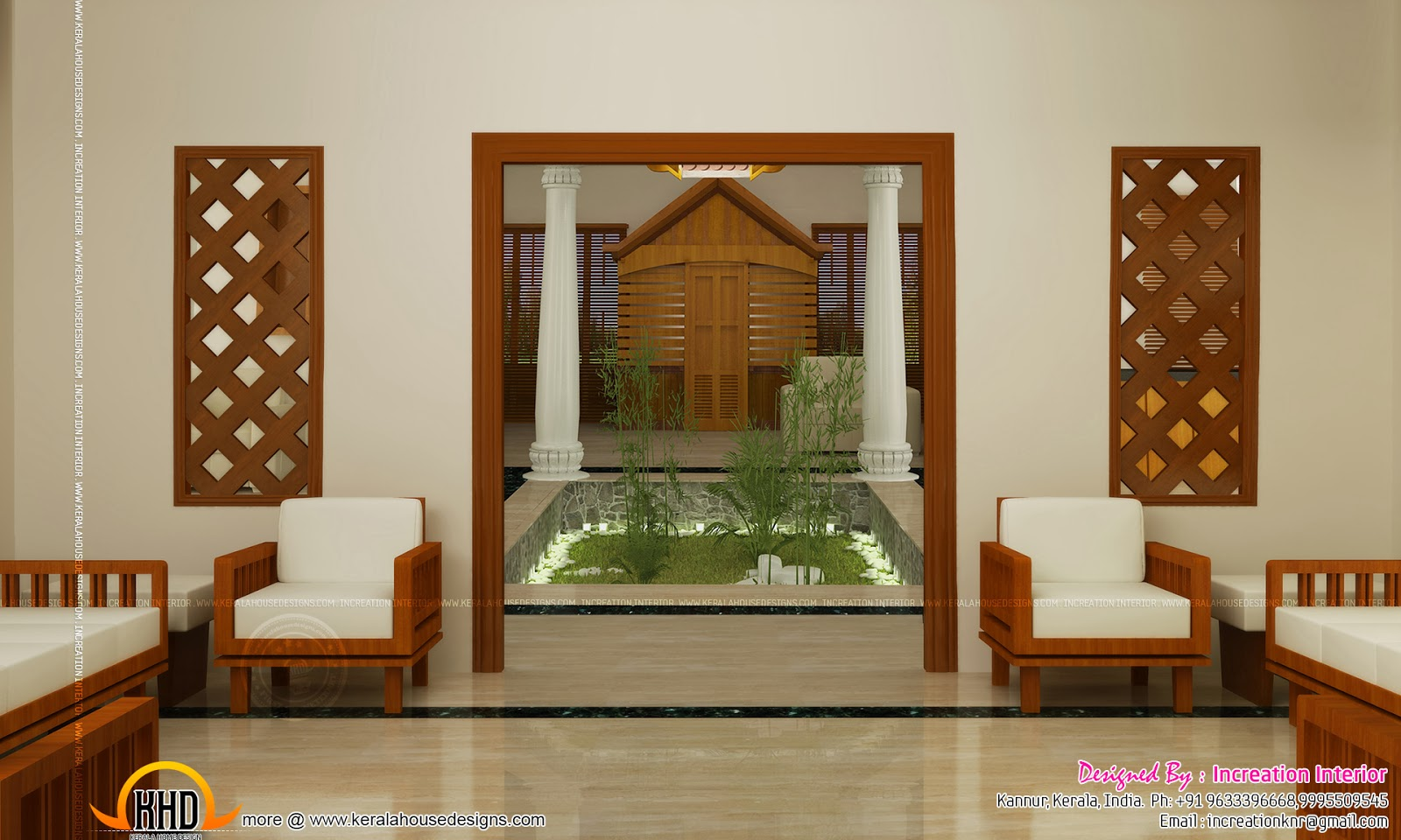 Kerala home design with nadumuttam images indian interior - Indian house interior designs ...