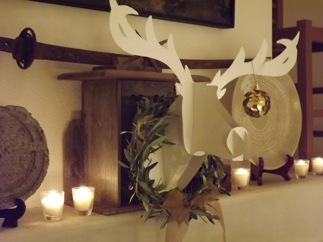 DIY paper reindeer head christmas decoration
