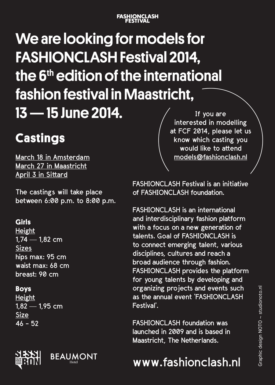 know which casting you would like to attend models @ fashionclash nl