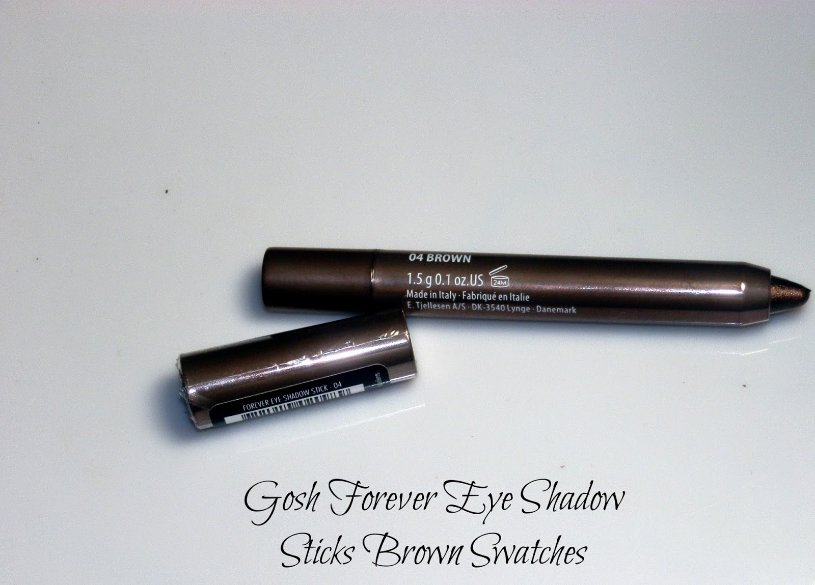 Gosh Forever Eye Shadow Sticks Brown Swatches