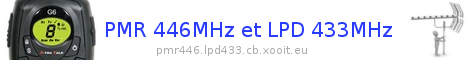 Forum PMR 446 Mhz et DMR 446 Mhz