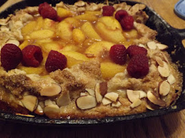 Cast Iron Peach Crostata........
