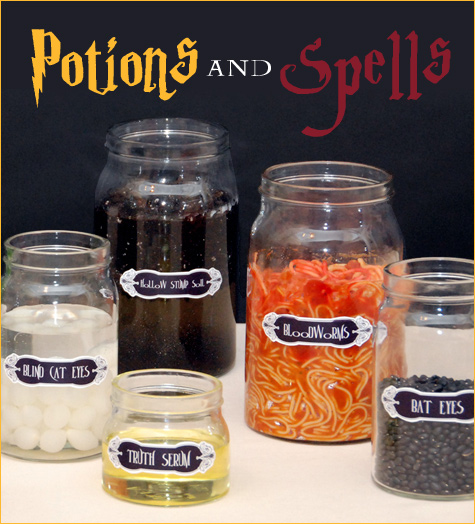 Harry Potter Centerpiece Ideas : Harry potter wizarding party ideas amy s
