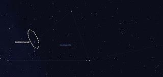 Kemble's Cascade in stellarium
