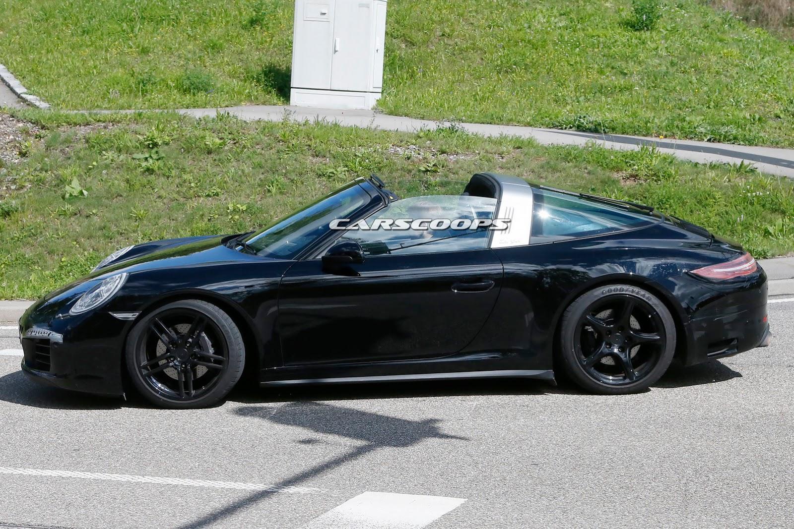 porsche spied testing facelifted 911 targa could get gts. Black Bedroom Furniture Sets. Home Design Ideas