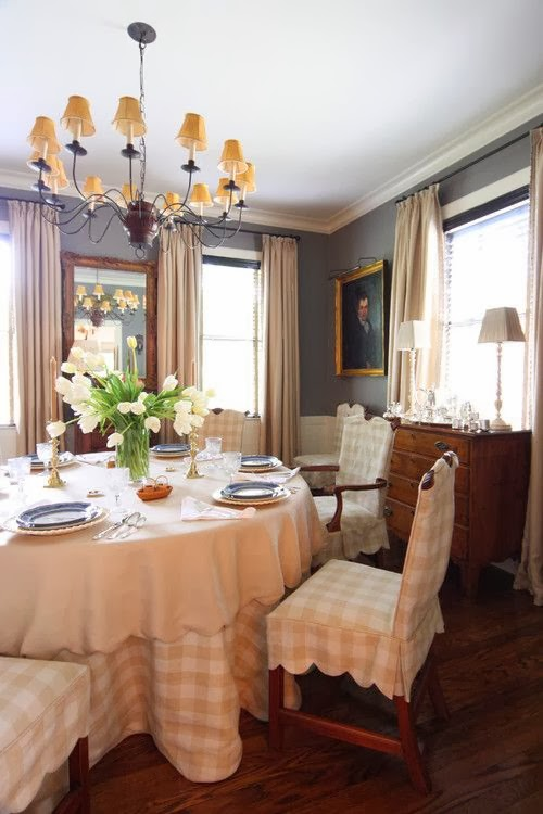 Dining Room Chair Skirts nine + sixteen: decorating inspiration | slipcovers + seat skirts