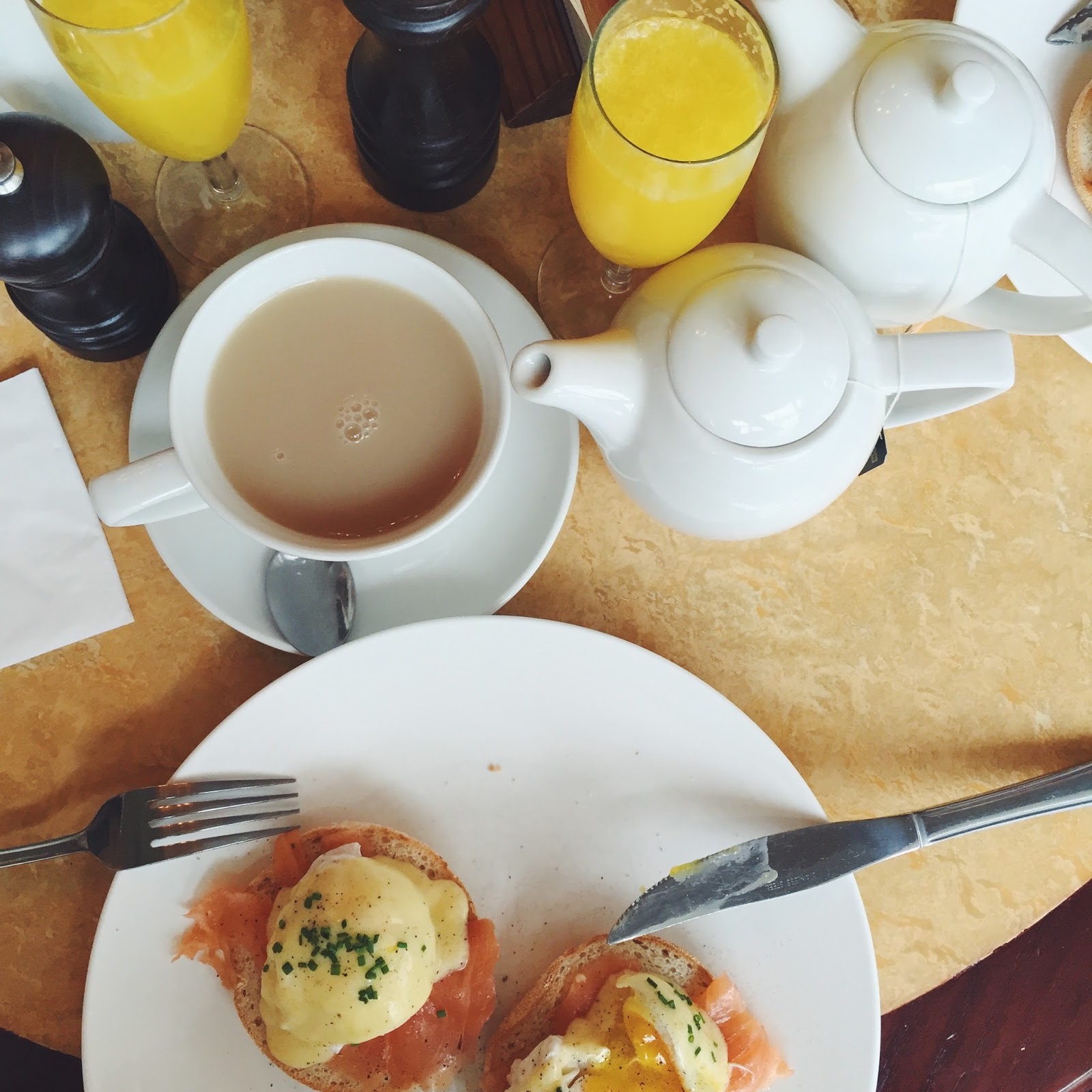 cafe rouge brunch eggs royale