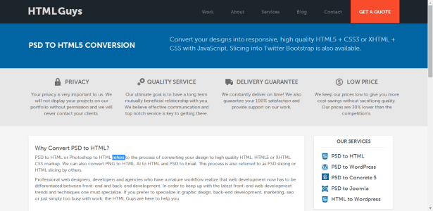 HTMLGuys PSD TO HTML5 CONVERSION