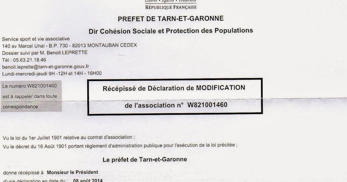 Blog de l 39 association la vie des beaumontois recepisse - Modification bureau association loi 1901 ...
