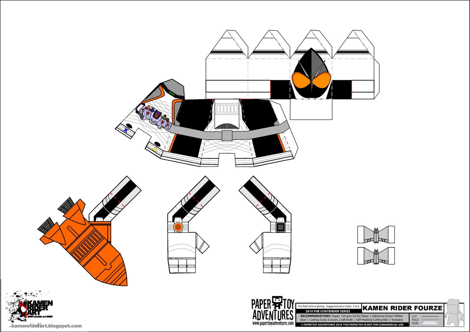 The GazettE & Kamen Rider: kamen rider papercraft - photo#8