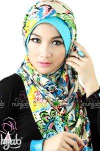 Nuhijab IBF - Blue (Toko Jilbab dan Busana Muslimah Terbaru)
