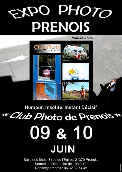 EXPOSITION 9 ET 10 JUIN  2018- CLUB PHOTO DE PRENOIS