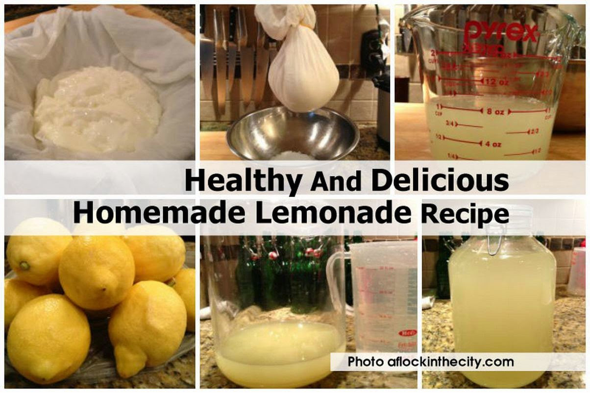 Healthy And Delicious Homemade Lemonade Recipe