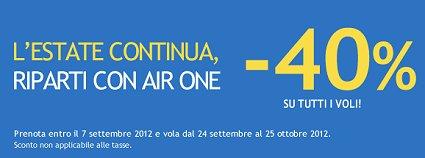 Air One promozione settembre ottobre