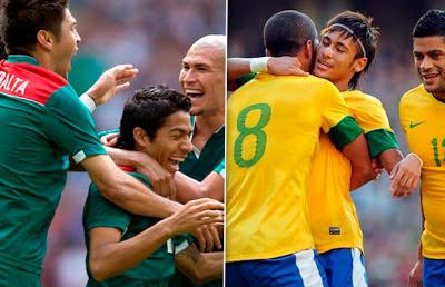 Mexico vs Brasil en vivo 2013