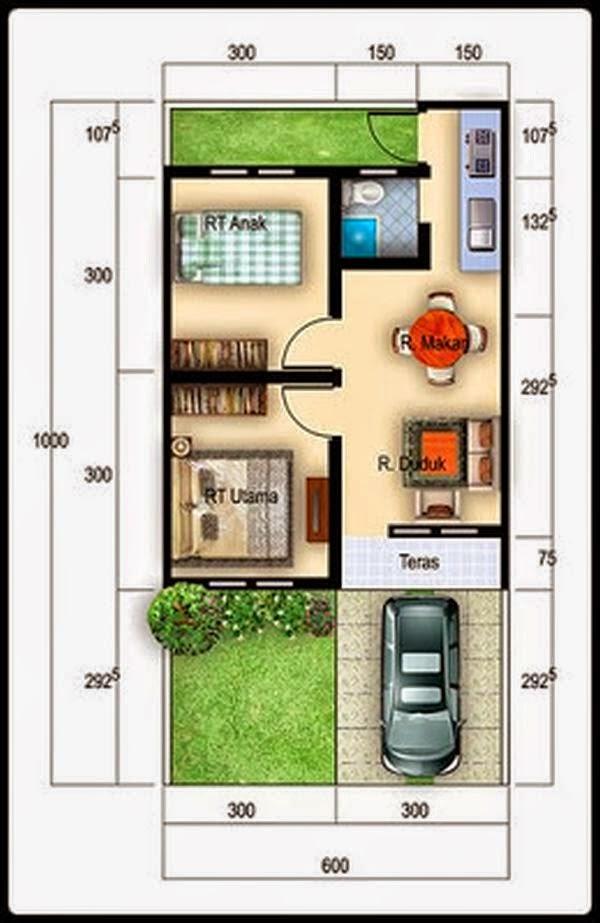 Denah Rumah Minimalis Type 36 d