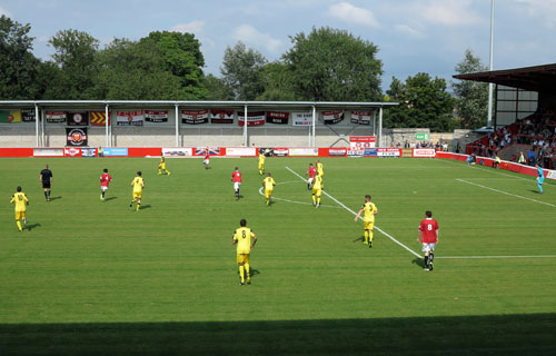 FC United of Manchester v Brackley Town, Broadhurst Park.