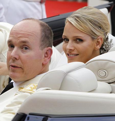 Албер и Шарлийн в сватбения автомобил - единствен по рода си Lexus LS 600h L Landaulet