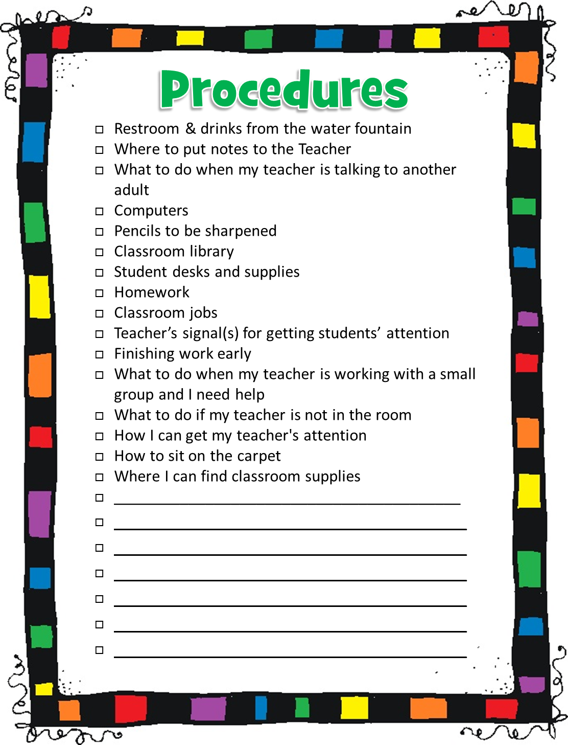Elementary Classroom Procedures : I love teach back to school success kit