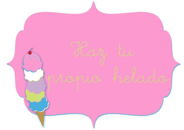 Cartel fiesta del helado