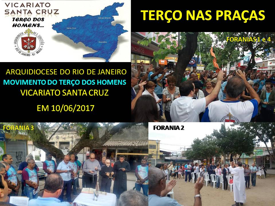 TERÇO NA PRAÇA - VICARIATO SANTA CRUZ - 10/06/2017