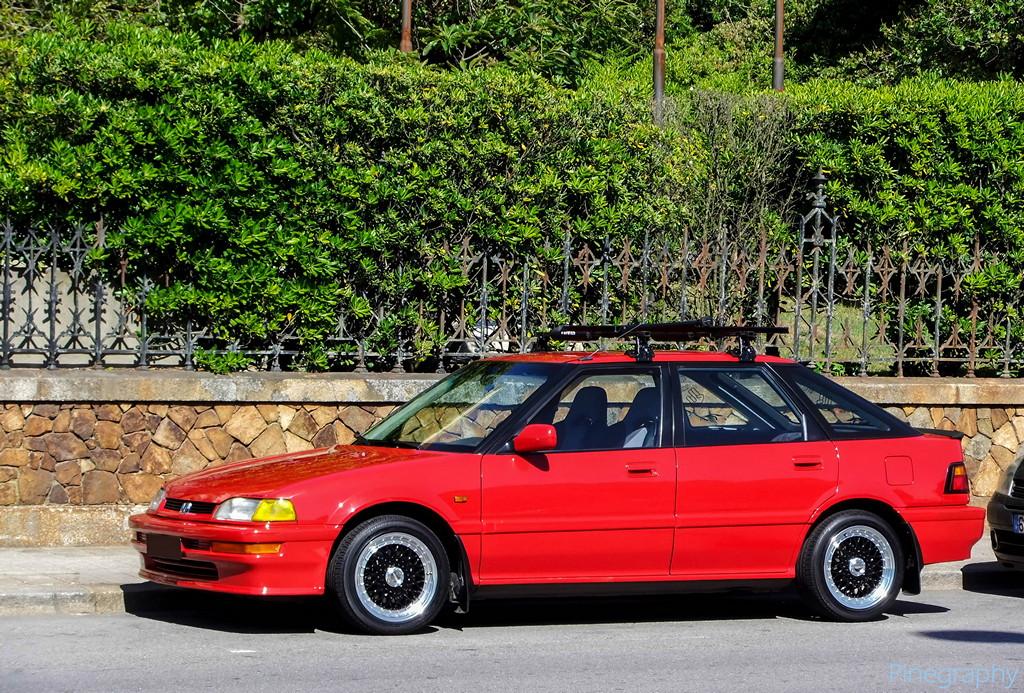 Honda Concerto, czerwona, czarne felgi, jak wygląda, design, JDM