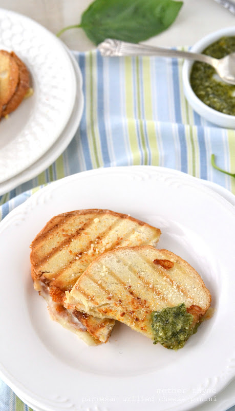 Parmesan Grilled Cheese Panini | Mother Thyme