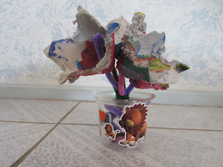 kids craft eff carton flowers in vase