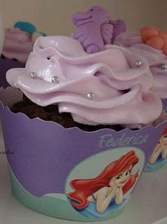 Cupcakes de la Sirenita, parte 2