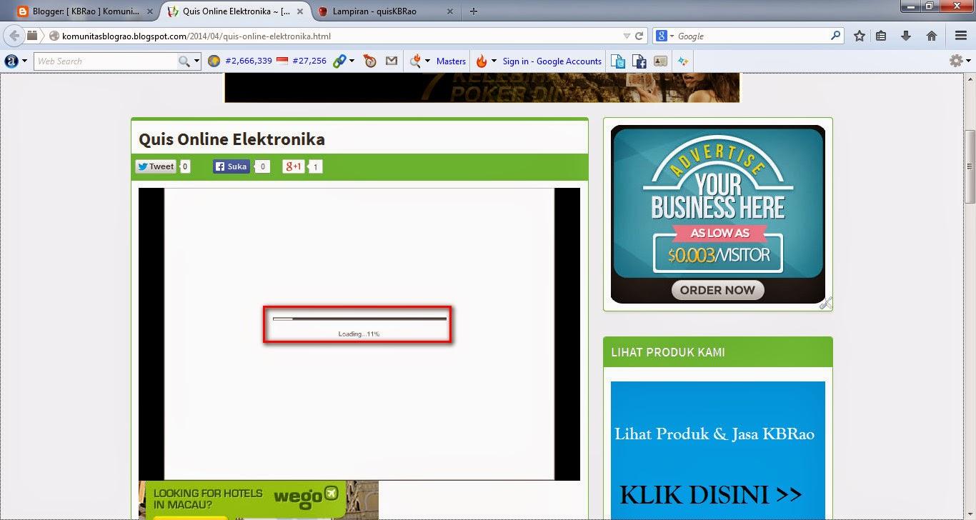 Cara Membuat Quis Online Di Halaman Blog Sebagai Media Pembelajaran Interaktif Secara Online