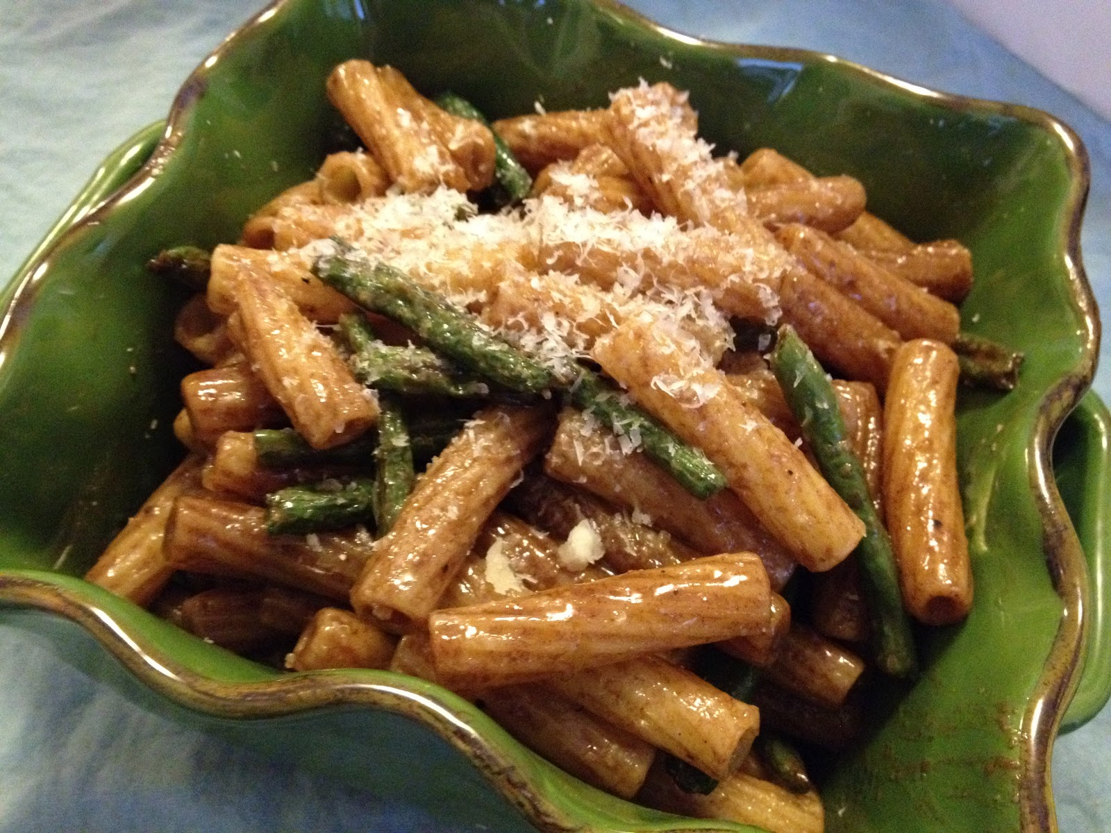 ... on Food: Pasta with Roasted Green Beans and Balsamic Butter Sauce