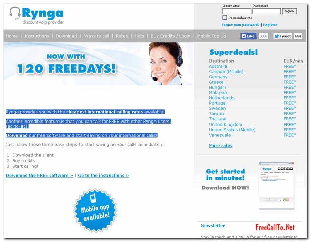 RynGa Download Free Calling software