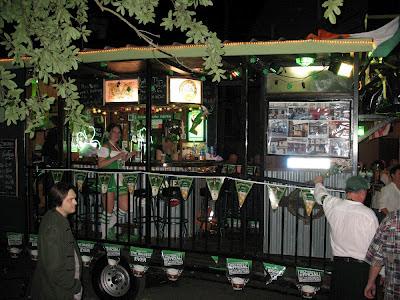 Pub themed float:  Downtown Irish Club Parade, St Patrick's Day 2012, NOLA