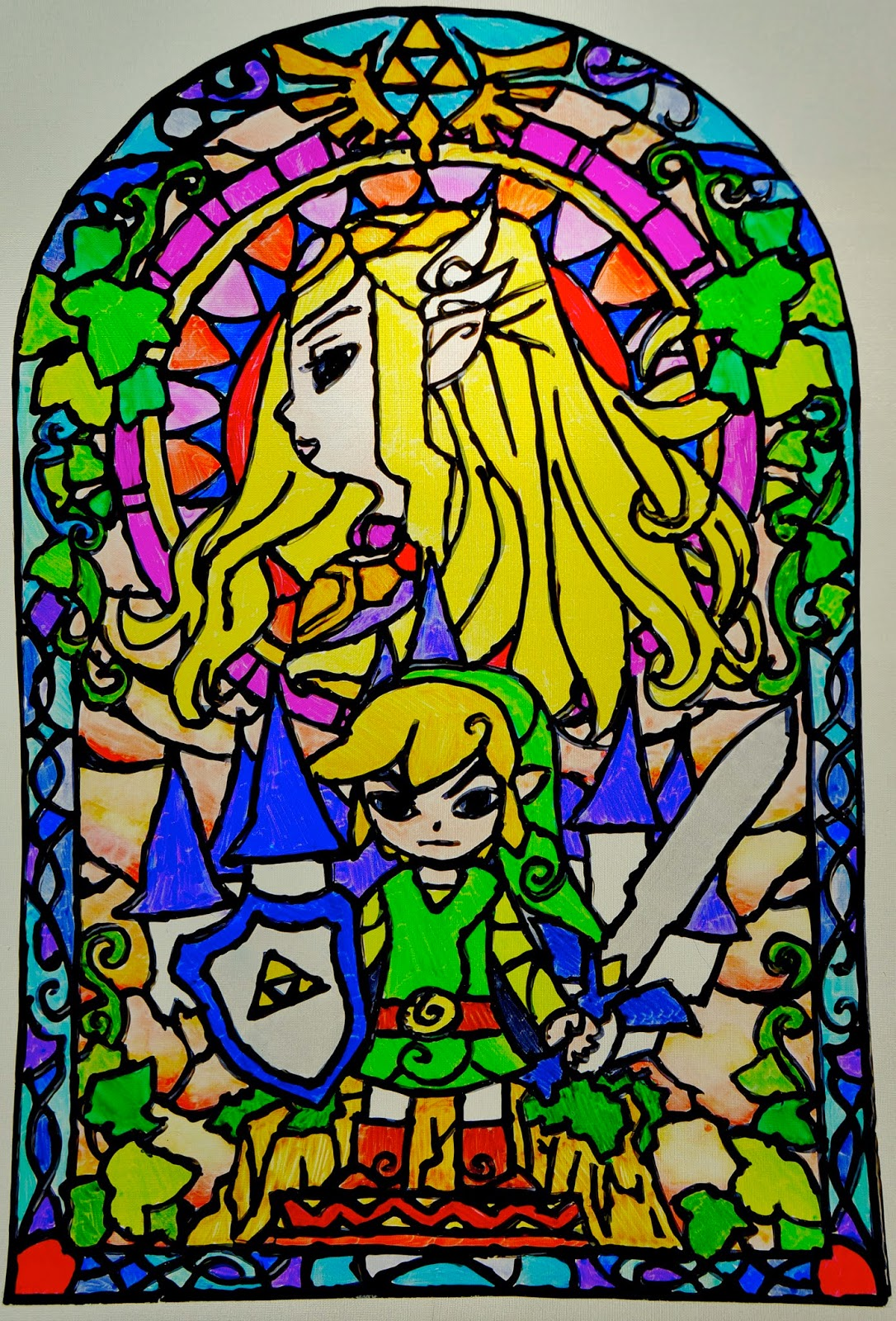 otaku crafts easy fake stained glass