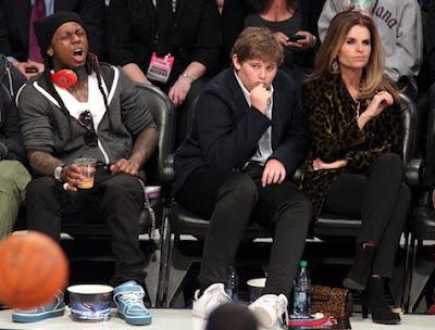 Imagen graciosa de Lil Wayne en el partido de las estrellas de la NBA 2011
