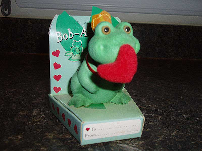 This little bobble-head frog just wants to wish you a Happy Valentine's Day!